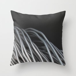 Twisted aluminum wires Throw Pillow