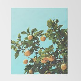 Summer Orange Tree Throw Blanket