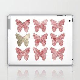 Golden rosy mauve butterflies Laptop & iPad Skin