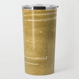 Aztec Gold abstract watercolor Travel Mug