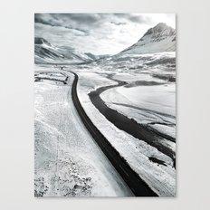 westfjords aerial view Canvas Print