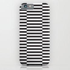 IKEA STOCKHOLM Rug Pattern - black stripe black iPhone 6 Slim Case
