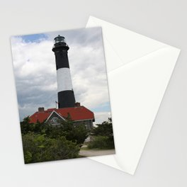 Lighthouse At Fire Island National Seashore Stationery Cards