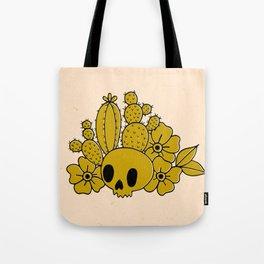 Skull and Cactus Tote Bag