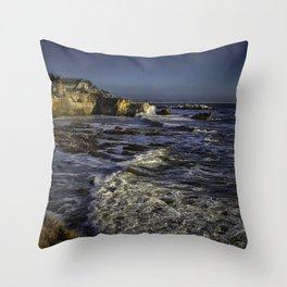 Shell Beach California Throw Pillow