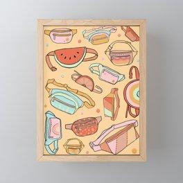 Fanny Packs Framed Mini Art Print