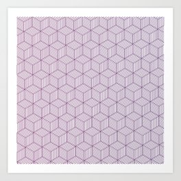 geometric pattern Art Print