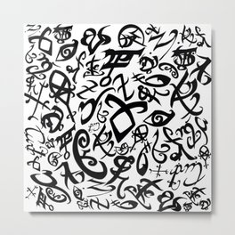 Shadowhunter Runes Metal Print