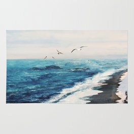 Watercolor Coast Rug