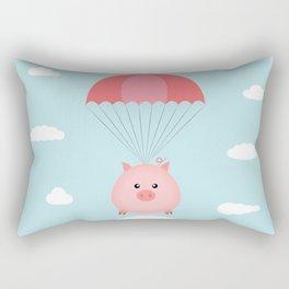 Baby Pig in a Parachute Rectangular Pillow