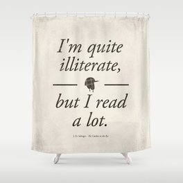Salinger's The Catcher in the Rye - Literary quote art, bookish gift, modern home decor Shower Curtain