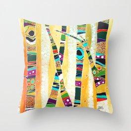 Runk Trees Throw Pillow