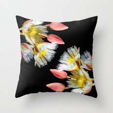 Bold and Wild Flowers Throw Pillow