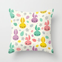 Easter Bunnies Throw Pillow
