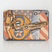 aviation iPad Cases featuring Aviation Pinups - P-51 Mustang by Vintage Pinups