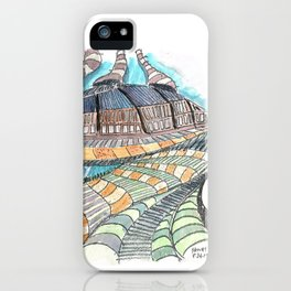 Meandering Landscapes: Loose Spiral iPhone Case