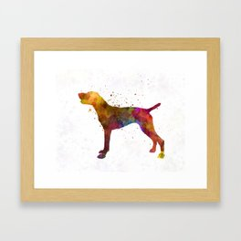 German Shorthaired Pointer in watercolor Framed Art Print