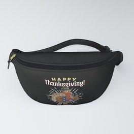 Happy Thanksgiving - Patriotic Turkey Pilgrim Fanny Pack