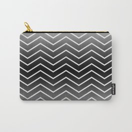 Fat Thin Chevrons Dove White Carry-All Pouch