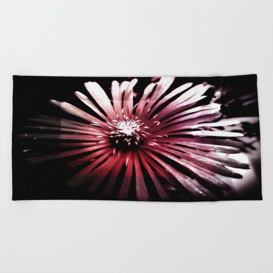 Night Flower Beach Towel