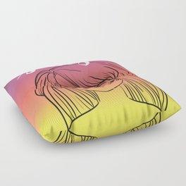 Sunset Girl Floor Pillow