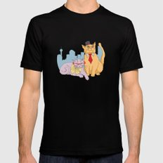 Calgary Cats MEDIUM Black Mens Fitted Tee