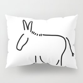 donkey stubbornness Pillow Sham