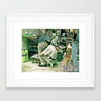 reading Framed Art Prints featuring Reading  by Ethna Gillespie