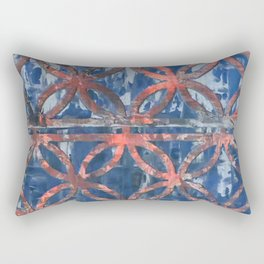 Abstract Blue Faded Pattearn Rectangular Pillow