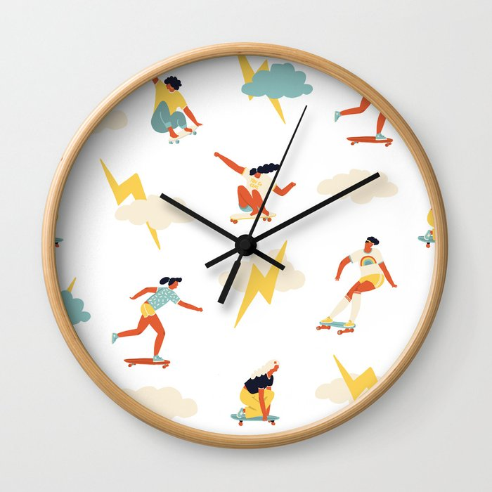 You go, girl pattern! Wall Clock