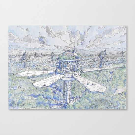The Solar City Canvas Print
