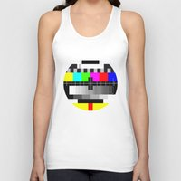 tv Tank Tops featuring TV by Les Hameçons Cibles