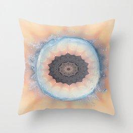 Deep cool waters Throw Pillow