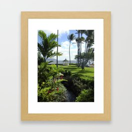 ISLAND GAZEBO Framed Art Print