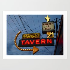 Chicken to go Art Print