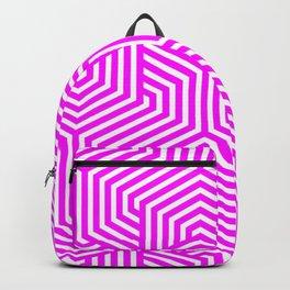 Fuchsia - pink - Minimal Vector Seamless Pattern Backpack