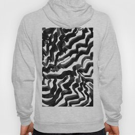 Bold Ink Stripes in Black and White Hoody