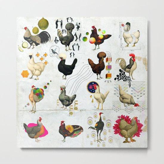 Defenseless Chickens Metal Print