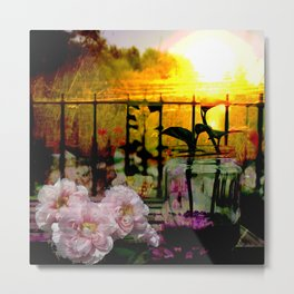 Sunset Balcony Metal Print
