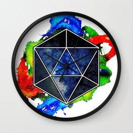 d20 Icosahedron of Imagination Wall Clock