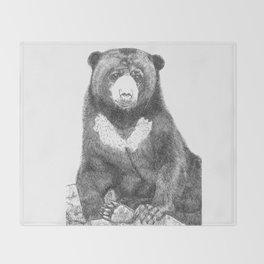 Malayan Sun Bear (Beruang Madu) Throw Blanket