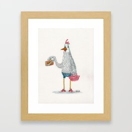 Urban Chicken Framed Art Print