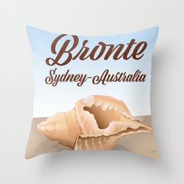 Bronte, Sydney, Australia seaside travel poster Throw Pillow