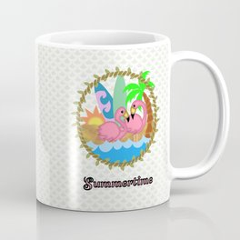 Summertime Flamingos Coffee Mug