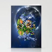 saga Stationery Cards featuring DBZ - Cell Saga by Mr. Stonebanks