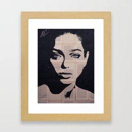 Anouchka blueyes Framed Art Print