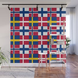 Flags of scandinavia 2: finland, denmark,swede,norway Wall Mural