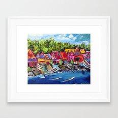 Philadelphia's Boathouse Row Framed Art Print