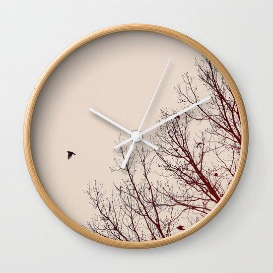 Umber Days Wall Clock