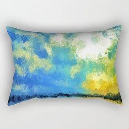 feathered horizon Rectangular Pillow